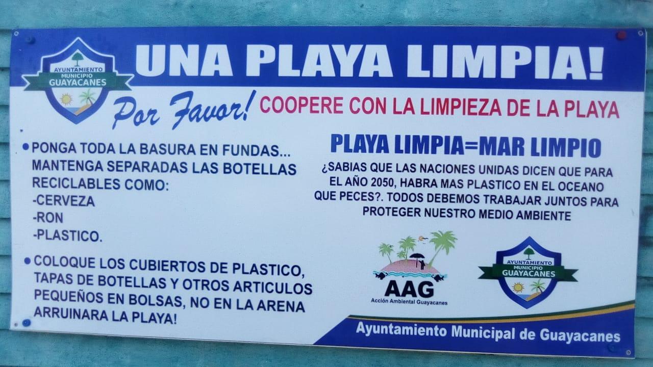 Inicio de campaña de educación y concientización por una playa limpia